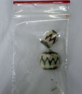 2 Bead Fragments (tombodama)