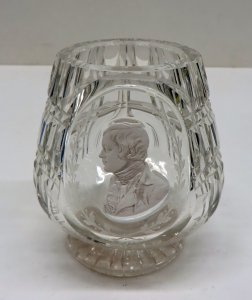Vase with Sulphide Bust of a Man