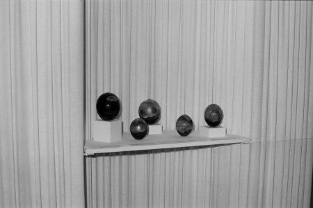 [Display of paperweights in preparation for reopening day August 1, 1972] [picture].