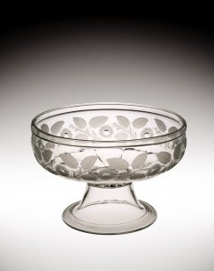 Footed Bowl with Engraved Decoration