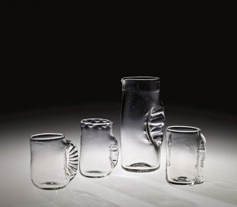 """Pinch"" Pitcher and 4 Tumbler Prototypes"