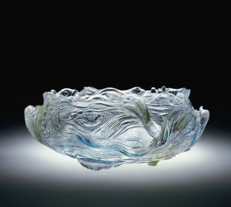 Bowl with Fish and Waves