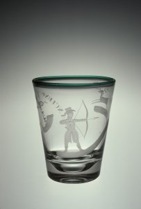 Beaker Engraved with Bowhunter
