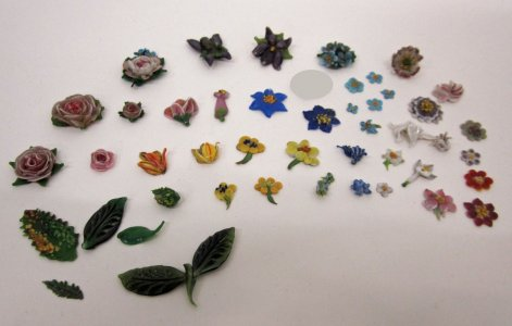 46 Flat Models of Flowers and Leaves for Jewelry