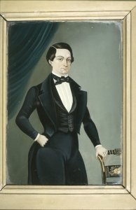 Portrait of Man in Black Suit with Tails