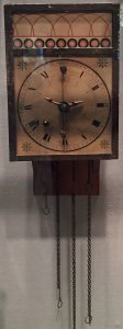 Musical Wall Clock with Glass Bells