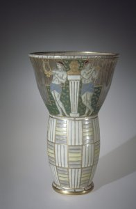 Vase with Classical Revelers and Straw Pattern