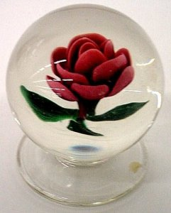 Paperweight with Rose