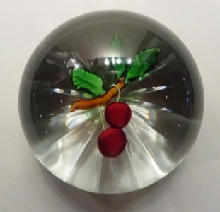 Paperweight with Cherries