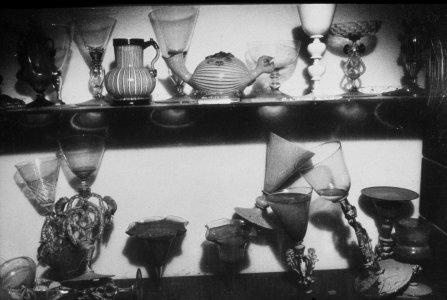 [Objects in study gallery rearranged by floodwaters] [slide].