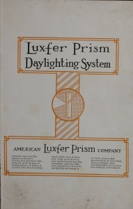 Luxfer prism daylighting system.