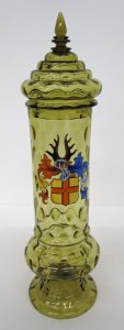 Covered Pokal Enameled with Armorial Decoration