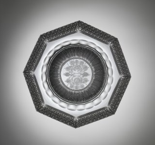 """Dish in """"Silver Threads and Diamond"""" Pattern"""