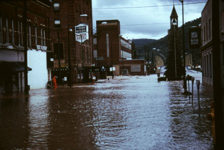[Downtown Corning, NY flooded Centerway Square] [slide].