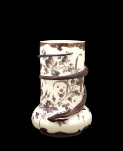 Colonial Ware Art Glass Vase