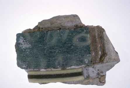 Fragments of Mosaic Glass Inlay in Backing Material