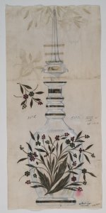 [Design drawing for decanter with jeweled embellishments] [art original].