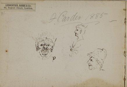 [Light brown sketchbook] 1885 / F. Carder.