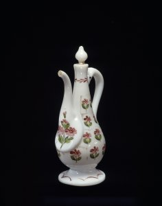 Enameled Ewer with Stopper