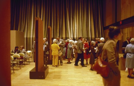 CMG Seminar 1980 [slide]: [seminarians mingle in the auditorium].