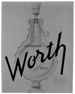 """Advertisement by """"Worth"""" for """"Je Reviens"""" [transparency]"""