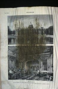 "[Muddy book page titled ""Potsdam""] [slide]."