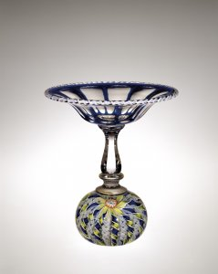 Compote with a Crown Paperweight Base