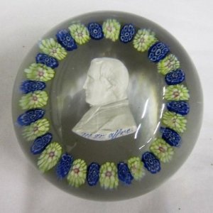 Paperweight with Sulphide of Monsignor Affre