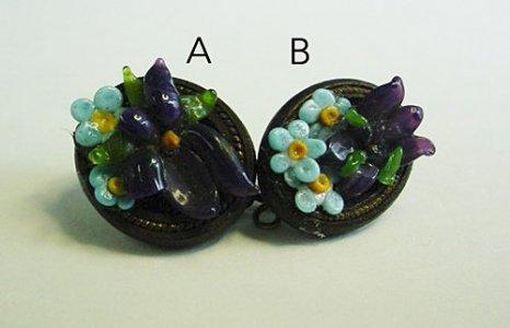 2 Blaschka Earrings