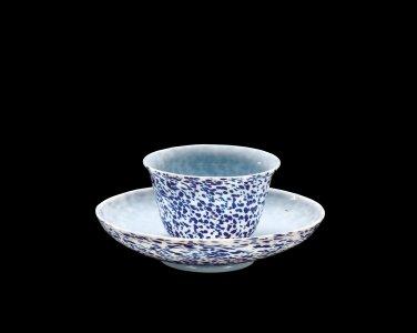 Speckled Teacup and Saucer