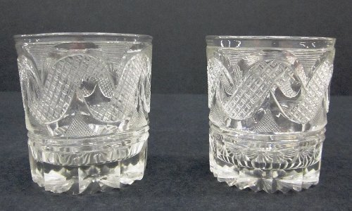 Decanter with Pair of Cut Glass Tumblers