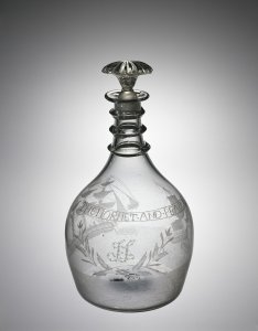 Decanter Engraved with Battle between the USS Hornet and HMS Peacock