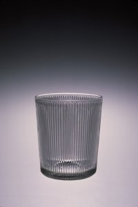"Tumbler in ""Reeded"" pattern"