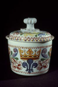Covered Bowl with a Crowned Fleur-de-lis