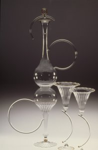 Decanter and goblets [slide].