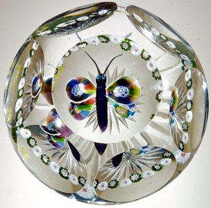 Paperweight with Butterfly
