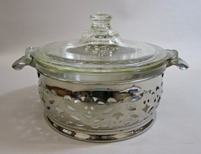 Pyrex Covered Casserole and Stand