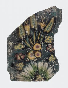 Floral Plaque Fragment