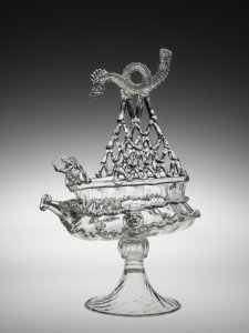 Vase in form of boat