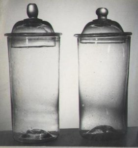 2 Covered Jars