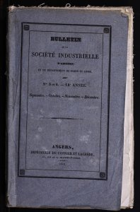 Exposition industrielle quinquennale de 1843; [suivi par] Rapport présenté à la Société industrielle d'Angers et du département de Maine-et-Loire sur la deuxième session du Congrès de vignerons français.