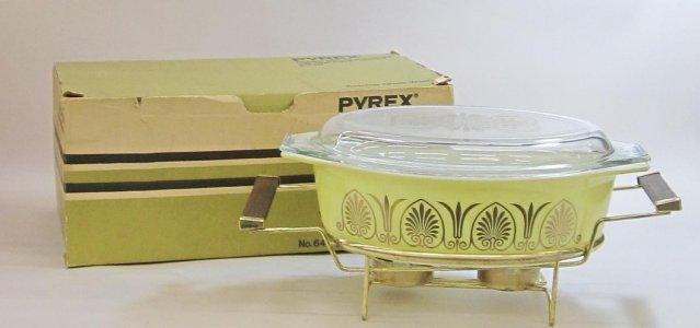 2-1/2 Quart Pyrex Casserole with Twin Candlewarmer in Original Box