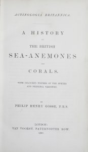 Actinologia britannica: a history of the British sea-anemones and corals / by Philip Henry Gosse.