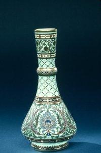 Pottery & Glass Glass Circa 1900 Moser Green & Gilt Art Glass Vase
