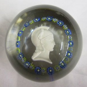 Paperweight with Sulphide of Athena