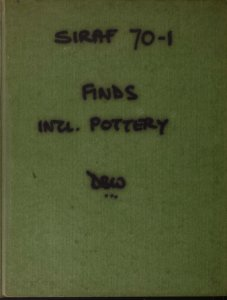 Siraf 70-1: finds incl. pottery / DBW.