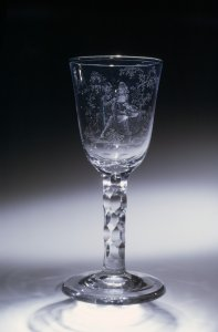 Wineglass with a Pastoral Scene