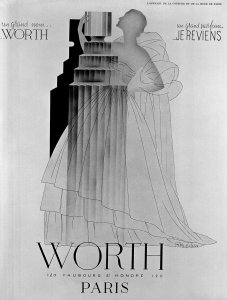 Advertisement by Worth for Je Reviens [transparency]