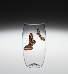 """Balloon"" Beer Glass with Butterflies"