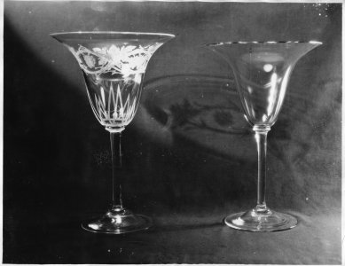 Shape no.: 6893 [photo of two vases. One is plain and one is engraved Grape] [picture].